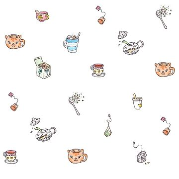 Cute Tea Illustrations by katherinepigott