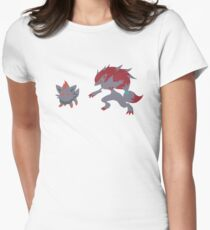 Zorua Evolution Womens Fitted T-Shirt