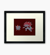 Zorua Evolution Framed Print