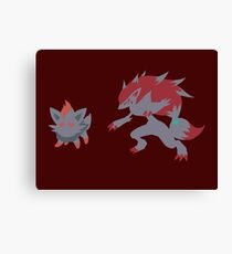 Zorua Evolution Canvas Print