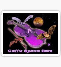 Cello Space Bats Sticker