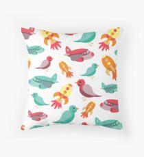 Flight Print Throw Pillow