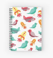 Flight Print Spiral Notebook