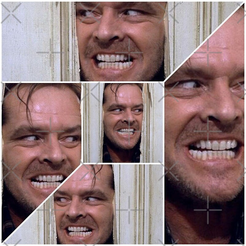 quotjack nicholson the shining heres johnnyquot posters by