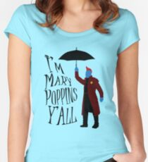 Yandu Poppins Women's Fitted Scoop T-Shirt