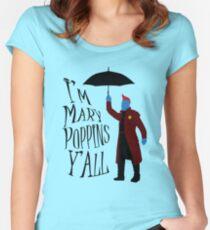 Yandu Poppins Fitted Scoop T-Shirt