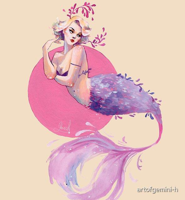 Lavender mermaid by artofgemini-h