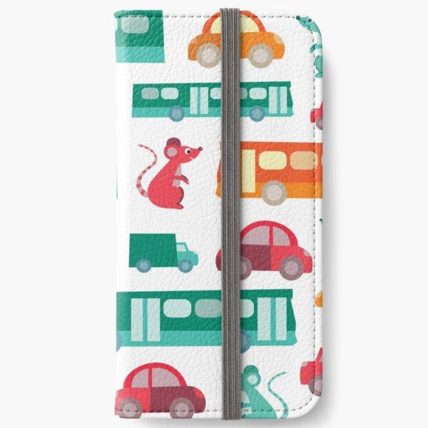 Zoom City Traffic Print iPhone Wallet