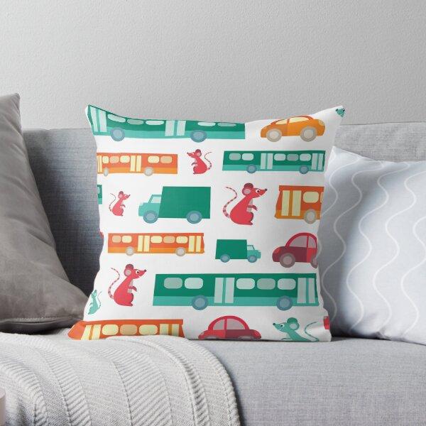 Zoom City Traffic Print Throw Pillow