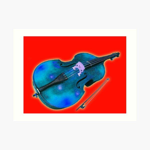 Double Bass Stellar Music Art Print