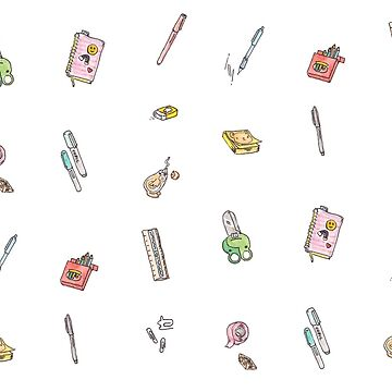 Cute Art supplies / Stationary Illustrations by katherinepigott