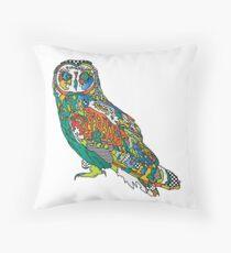 Owl Print Throw Pillow