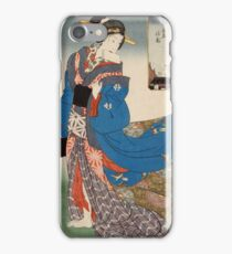 Cherry Blossoms in Full Bloom in the New Yoshiwara (One Hundred Beautiful Women at Famous Places in Edo) 1857 Kunisada Utagawa iPhone Case/Skin