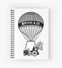 Vintage Style Contraption Print Spiral Notebook