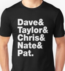Dave & Taylor & Chris & Nate & Pat - Foo Fighters Unisex T-Shirt