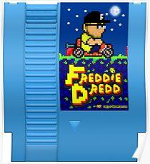 Freddie Dredd - Retro Gaming Cartridge Poster