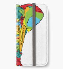 Pop Style Elephant Print iPhone Wallet/Case/Skin