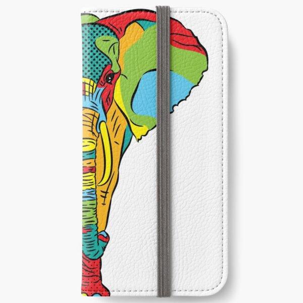 Pop Style Elephant Print iPhone Wallet