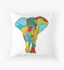 Pop Style Elephant Print Throw Pillow