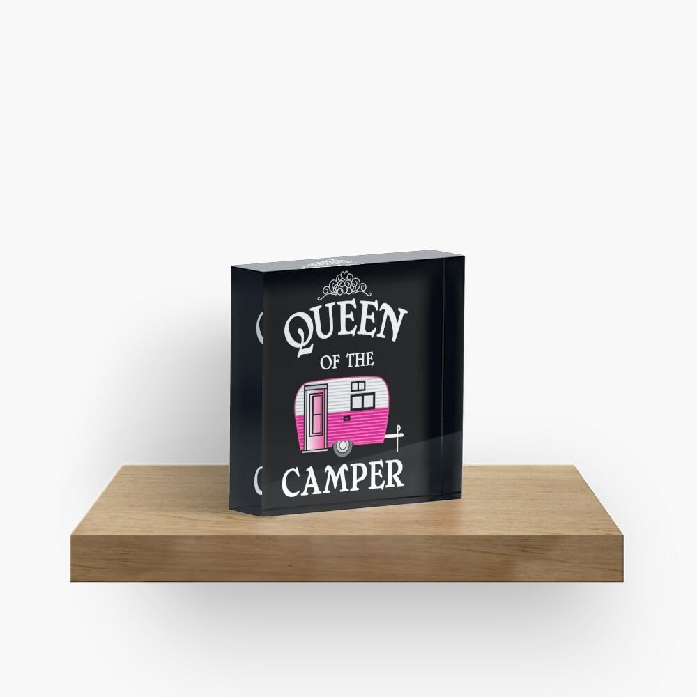 Königin des Camper-Funny Camping Acrylblock