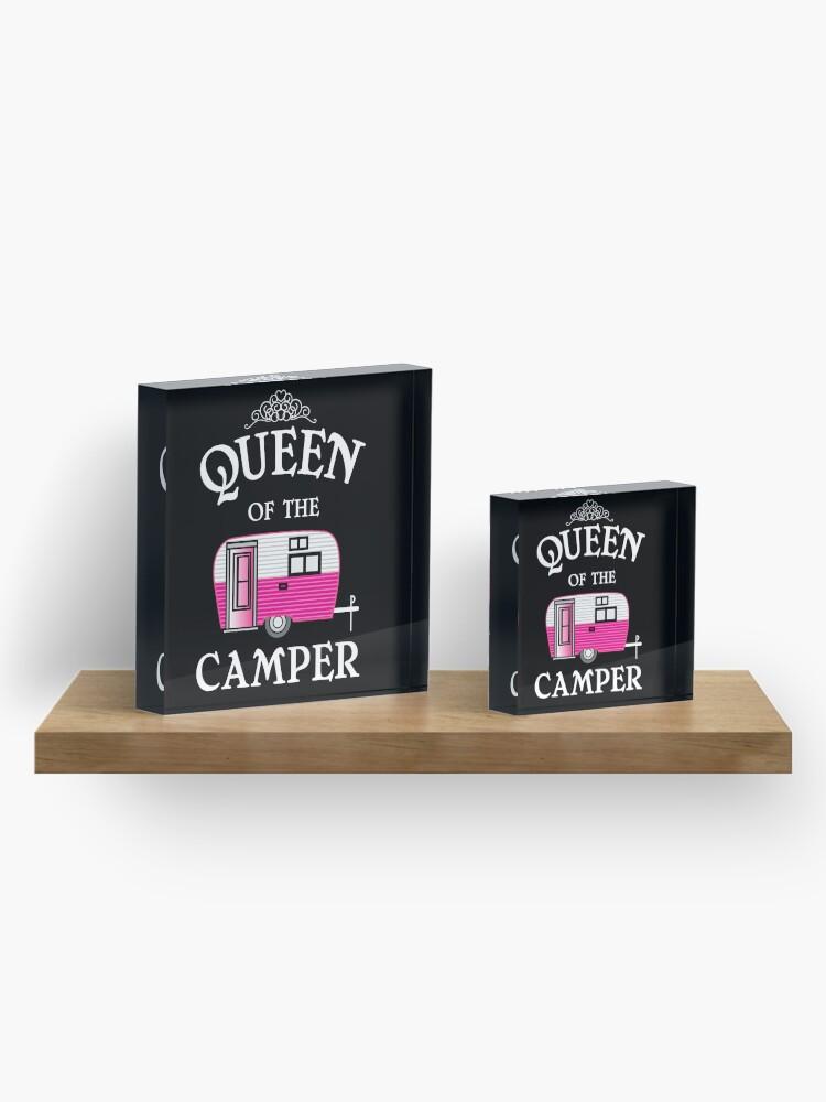 Alternative Ansicht von Königin des Camper-Funny Camping Acrylblock