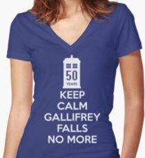 Gallifrey Falls No More Doctor Who - T-shirt Women's Fitted V-Neck T-Shirt