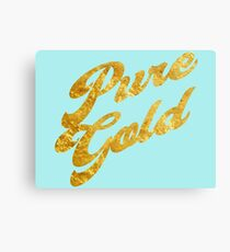 Pure Gold - Gold Typography Canvas Print