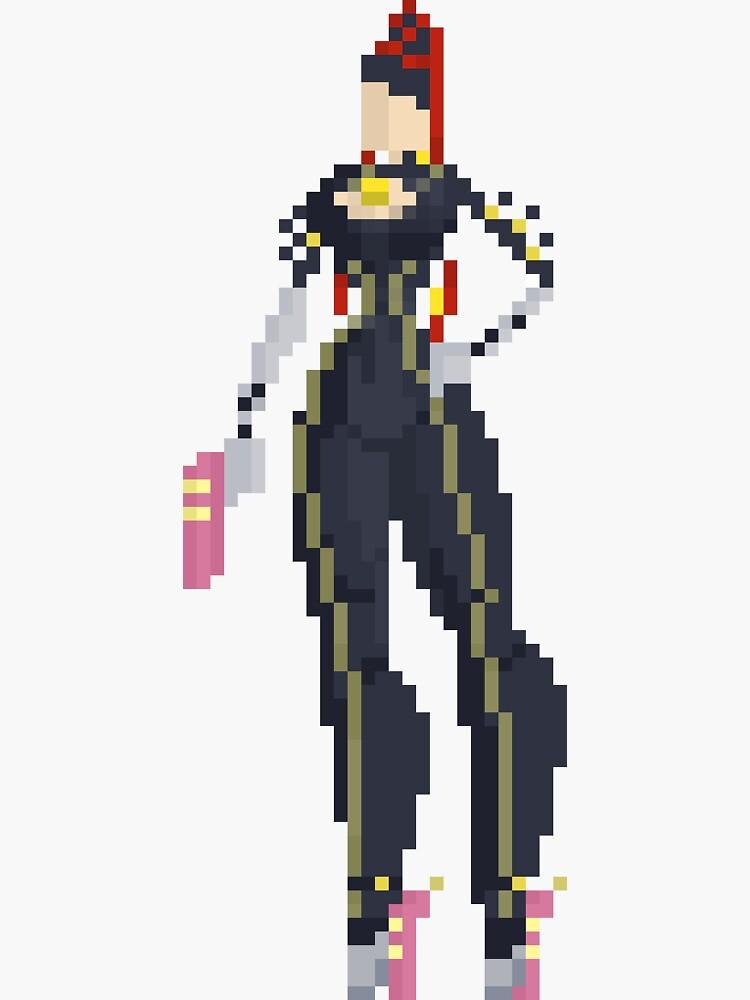 Bayonetta - Pixel Art Homage by izaksmells