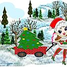A Christmas Fairy in winter wonderland  by Ann12art