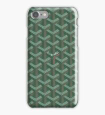 green goyard iPhone Case/Skin