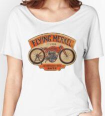 Flying Merkel Vintage Logo Women's Relaxed Fit T-Shirt