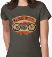 Flying Merkel Vintage Logo Womens Fitted T-Shirt