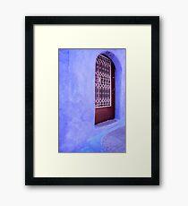 Simply Blue Framed Print