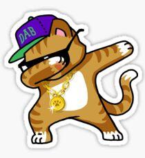 Tupfendes Katzen-lustiges Hemd tupfen Hip Hop, der Kätzchen tupft Sticker