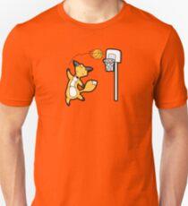 Basketball Playing Happy Fox Unisex T-Shirt