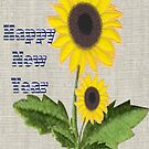 Sunny, Bright Happy New year Card by Ann12art