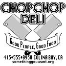 Chop Chop Deli Official T-Shirt (cleaver) by qozxe