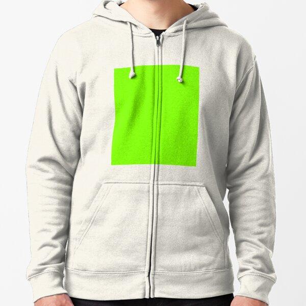 Chartreuse Vert Veste zippée à capuche