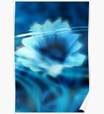 Submerged Blue Floral I Poster