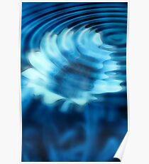 Submerged Blue Floral II Poster