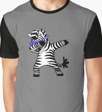Abtupfendes Zebra-Hemd-Tupfen-Hip Hop lustig Grafik T-Shirt