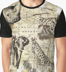 African Wildlife Graphic T-Shirt