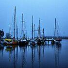 Fog over the Huon. by Ian Ramsay