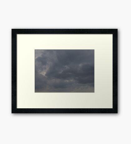 HDR Composite - Fluffy Iron Sky Framed Print