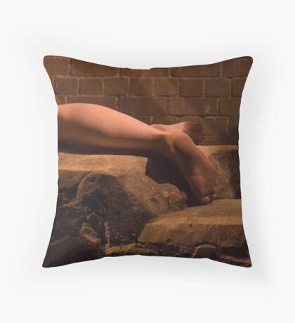 Feet of Stone Throw Pillow
