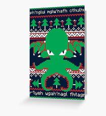 Tarjeta de felicitación Cthulhu Cultist Christmas - Cthulhu Ugly Christmas Sweater