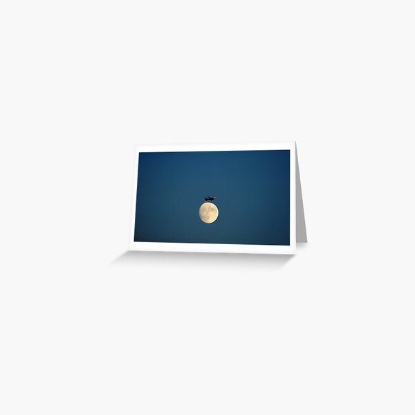 Planing the Moon Greeting Card