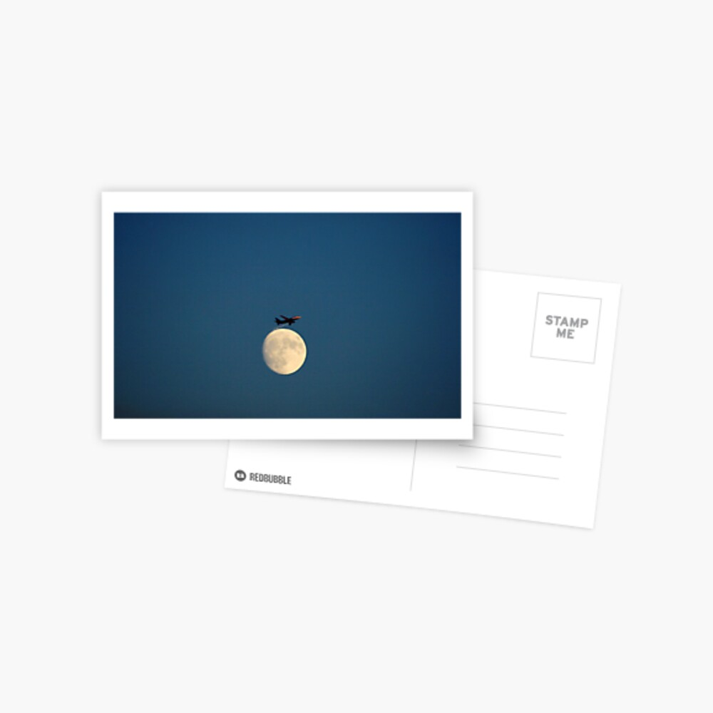 Planing the Moon Postcard