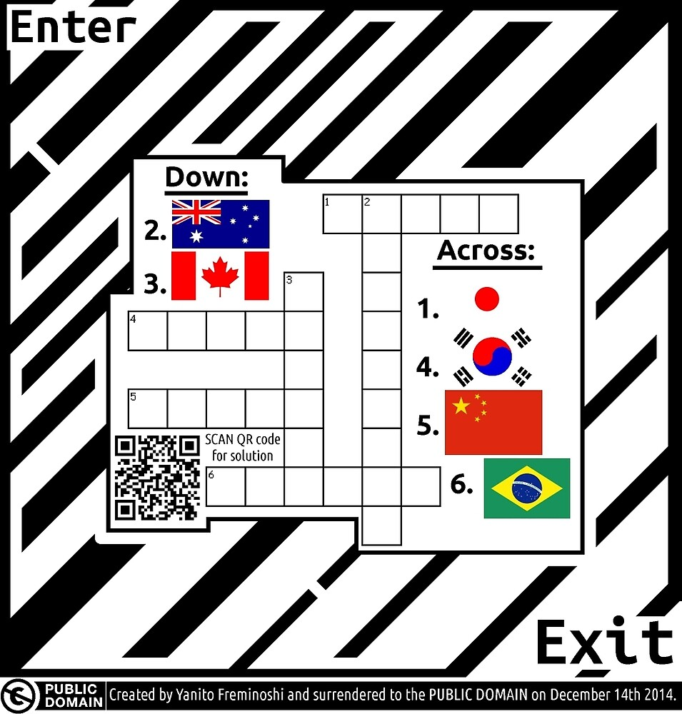 Flag Crossword Puzzle Maze   by Elenapinker
