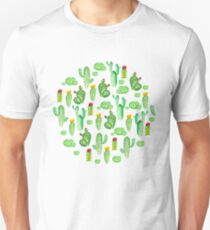 watercolor greenery cactus Unisex T-Shirt